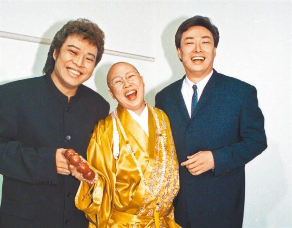 張菲(左起)、恆述法師以及費玉清是演藝圈出名3姊弟,過去曾同台帶給大家歡樂。(資料照片