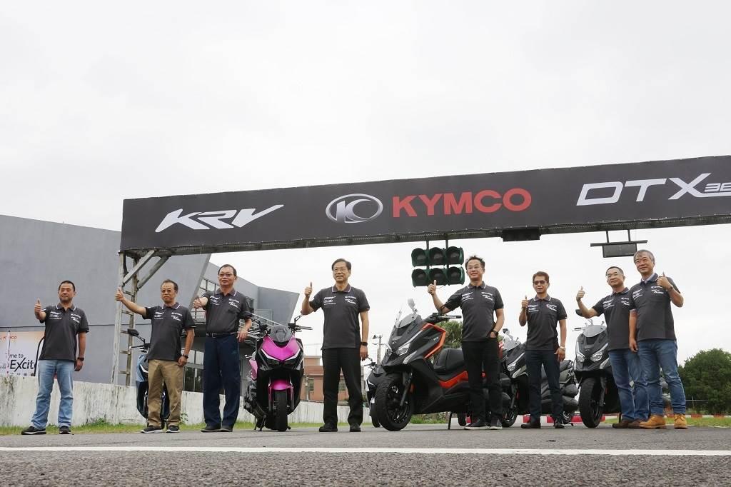 於大魯閣卡丁車賽道舉辦的KRV & DT X360試駕會,希望透過更嚴苛的環境條件來展現兩款新作的強悍韌性。(圖/中時新聞網攝)
