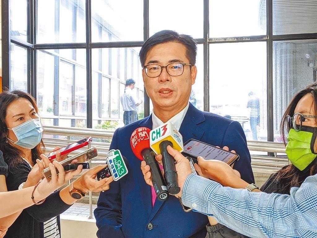 高雄市長陳其邁(見圖)要求「把高雄港點亮」,副市長史哲表示,市長一句話逼死了跨年團隊。(本報資料照片)