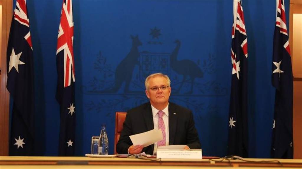 澳洲總理莫里森主動召開記者會,譴責趙立堅發佈的偽造圖片「令人厭惡」,要求中方道歉及刪帖。(圖/ @ScottMorrisonMP)