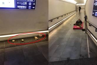 新竹男送愛街友 下秒麵包被丟水溝蓋 心寒嘆:他只要錢