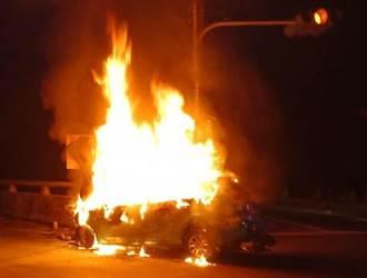 外送哥深夜衝山區載流浪貓就醫 自撞火燒車成焦屍