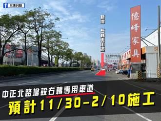 国1永康交流道旁增建右转车道今动工 工期预估3个月