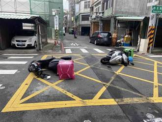 吴柏毅撞傅潘达 2外送员人车倒地