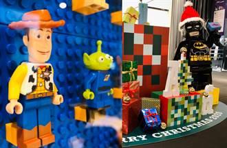 1500隻樂高人偶、巨型蝙蝠俠迎聖誕 台中耶誕市集夢幻登場