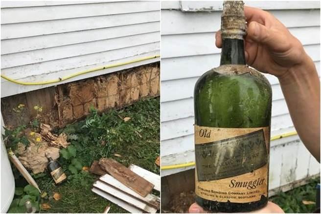 情侶挖出的威士忌都是蘇格蘭品牌,部分將出售作為裝修費用。(圖/翻攝Instagram@bootleggerbungalow)