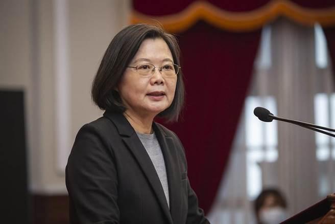 (總統蔡英文表示,今年台灣經濟成長率是亞洲四小龍第一名。圖/總統府提供)