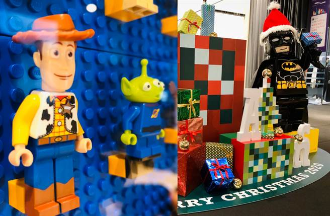 樂高迷注意!誠品生活松菸店特別展出風靡全球的樂高LEGO推出逾1,500隻人偶限量又壯觀的樂高牆。(圖/品牌提供)