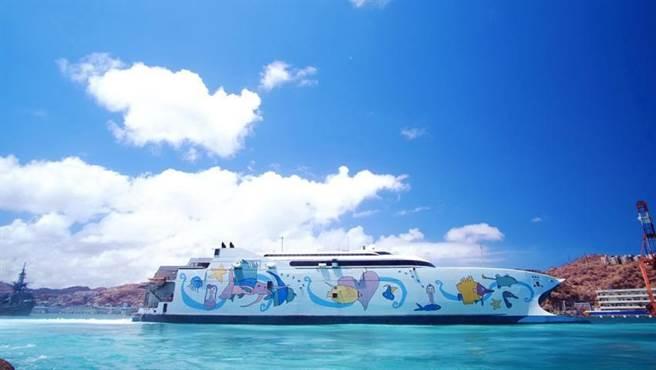 (號稱「世上最快海上飛船」的「麗娜輪」,春節航次開賣,澎湖居民可享7折優惠。圖/雄獅旅遊提供)