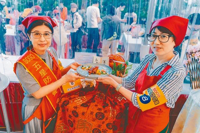 SOGO五星防疫餐料理由劉姿勵(左)以「養生無錫排骨」奪得金牌。(SOGO提供)