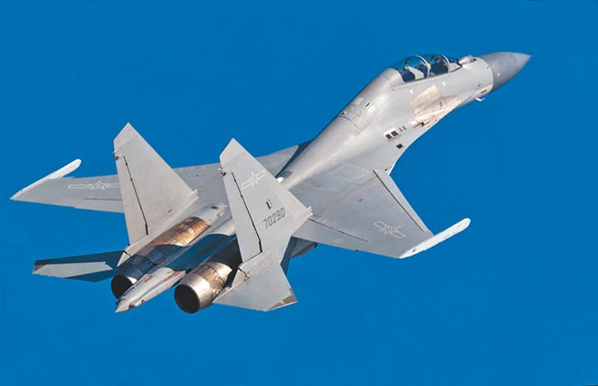 解放軍殲-16戰機。(取自中國軍網)
