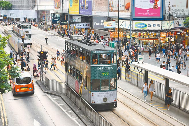 香港銅鑼灣街頭。(新華社資料照片)