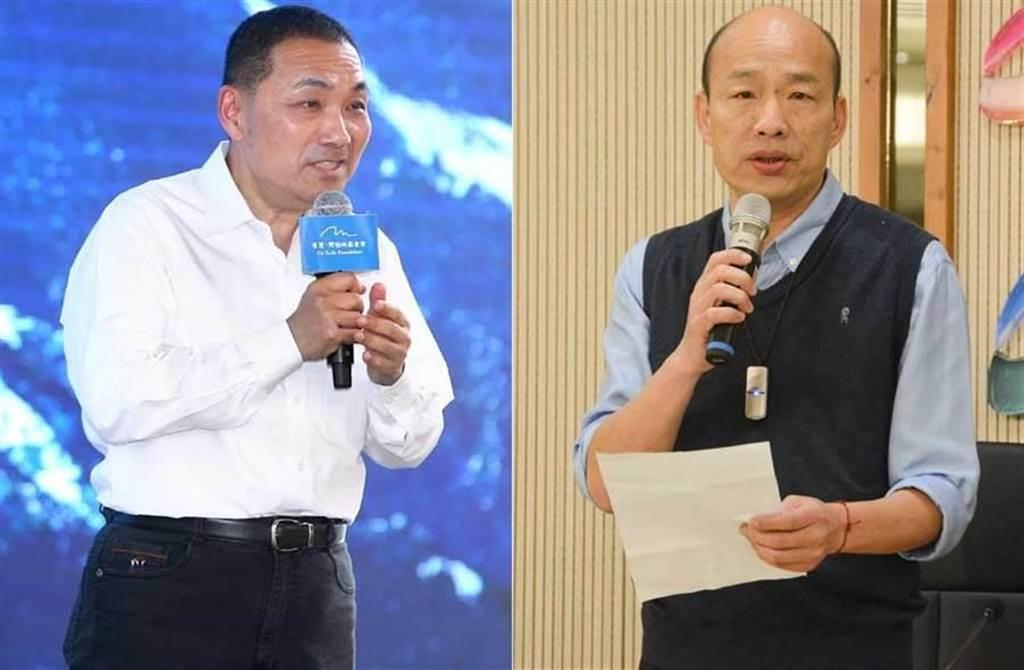 新北市市長侯友宜(左)、前高雄市市長韓國瑜(右)。(合成圖/中時資料照)