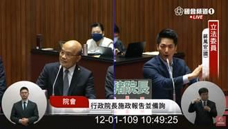 蔣萬安問萊豬1打3戰力狂飆 蘇貞昌被電爆後擠出這句:請冷靜