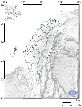 14:37雲林斗六規模3.5地震 最大震度雲林3級