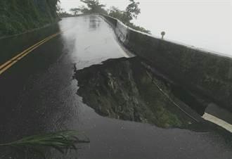 大雨沖刷 蘇花38.9公里出現超大「天坑」 直通太平洋