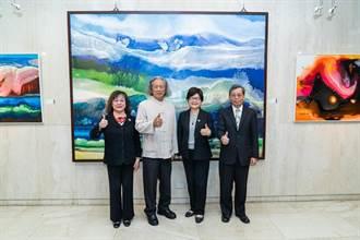 第一藝術空間舉辦 國際抽象大師詹阿水創作個展