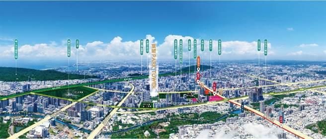 高雄欠缺A級商辦,京城集團於農16推出的「京城Park Tower」將可望一舉攻佔商辦藍海。(圖/業者提供)