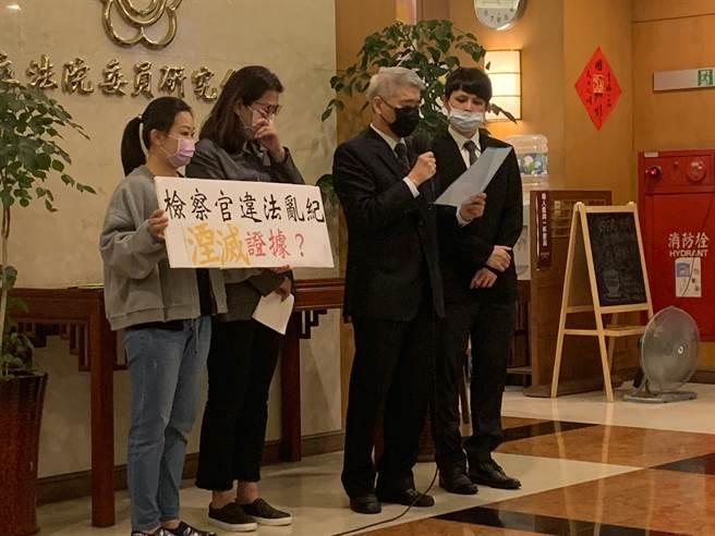 立委蘇震清因涉貪案在押,今委由律師舉行記者會代唸聲明稿,宣布即刻起絕食抗議司法不公。(林縉明攝)