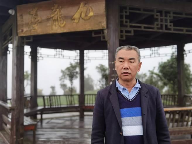久安鄉茶文化非物質文化遺產傳承人 項朝富先生。(圖/蹇金津提供)