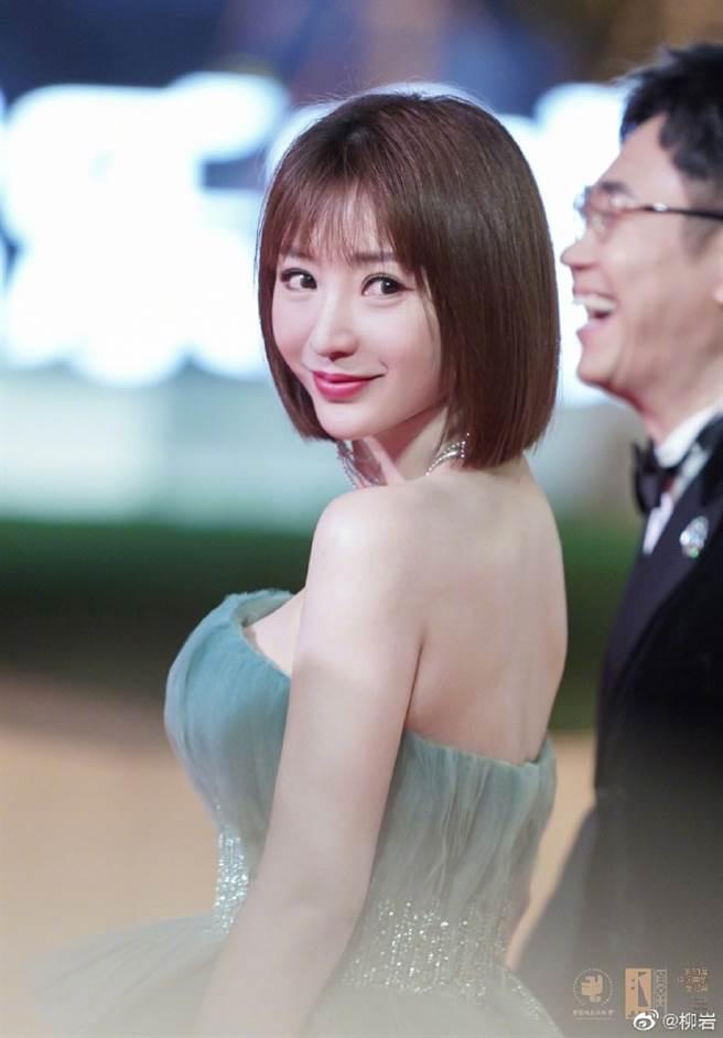 柳岩在今年入圍2020年第33屆金雞百花獎最佳女主角的提名。(圖/摘自微博@柳岩 )