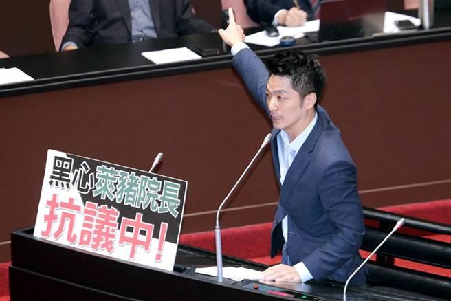 国民党立委蒋万安。(黄世麒摄)