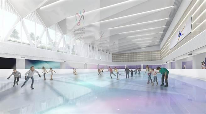 忠泰跨足運動事業,投資成立國際級的「極光冰場」,與曾在杜拜、香港、越南、新加坡、大陸等地參與多家滑冰場規畫經營的ICE RINK CONCEPTS團隊合作台灣首家據點,預計可為商場帶來百萬人次。(忠泰集團提供)