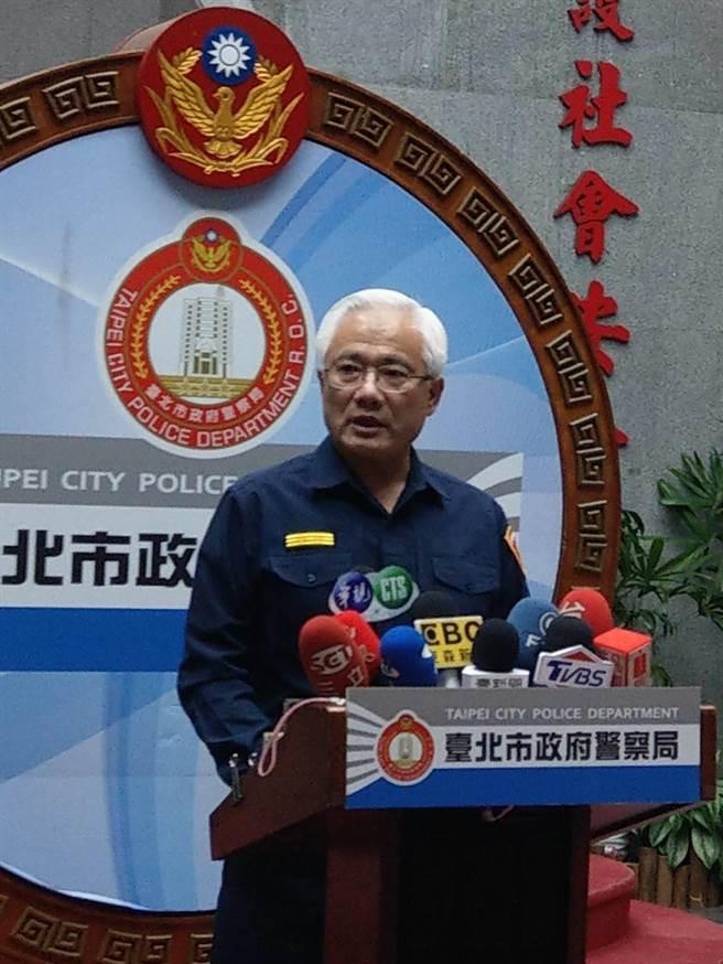 北市警局副局長邱寬愉表示,全案已交由督察室調查中。(陳鴻偉攝)