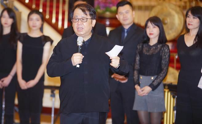 朱宗慶打擊樂團創辦人朱宗慶表示,他經常思考,如何讓打擊樂和社會產生連結。(張鎧乙攝)