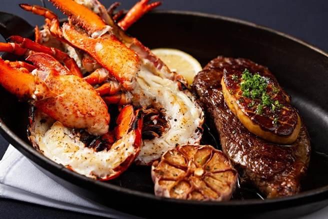 (台北國賓大飯店A CUT牛排館推出全新午間套餐,嚴選頂級牛排與龍蝦,不分平假日皆供應。圖/台北國賓大飯店)