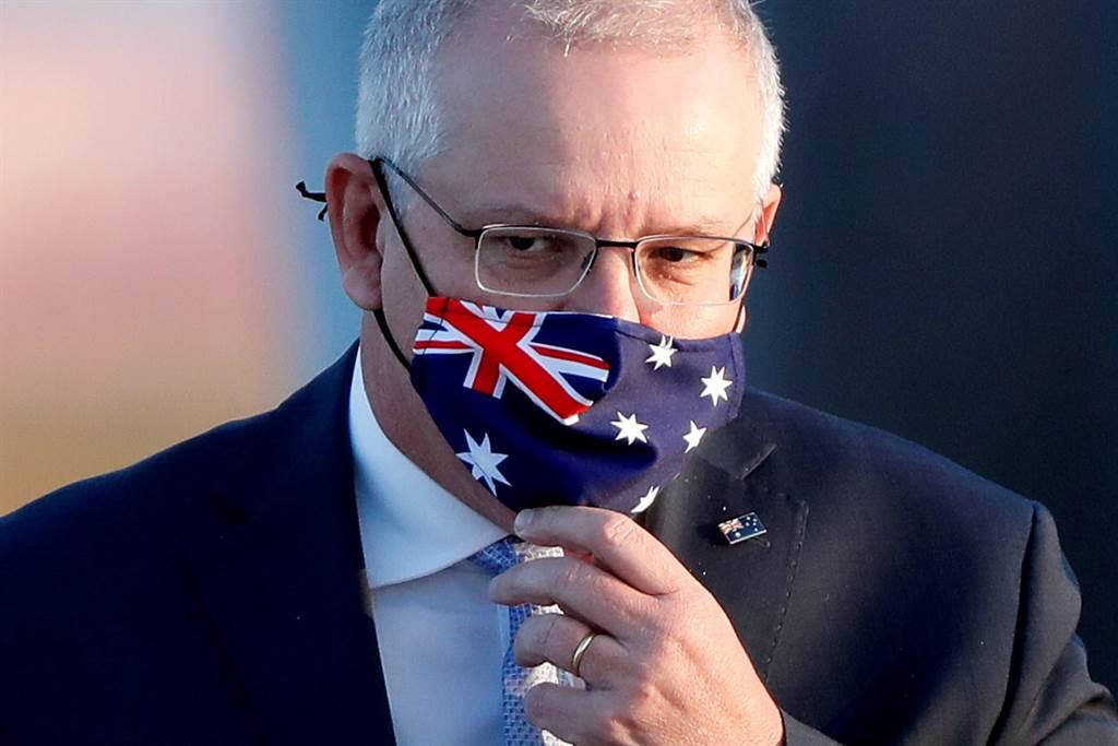 对中国已不如今年稍早强硬的澳洲总理莫里森进退维谷。 (美联社)
