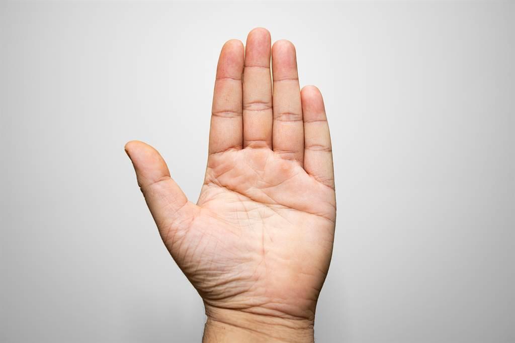手又大又有肉,還呈現紅潤的顏色,代表這類型的人很有財運。(示意圖/達志影像)