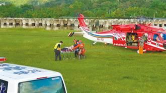 女山友北大武山受傷 黑鷹直升機緊急救護