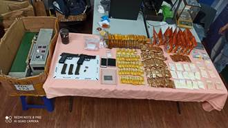 台南市區大樓藏小型毒品分裝工廠 還查獲改造手槍
