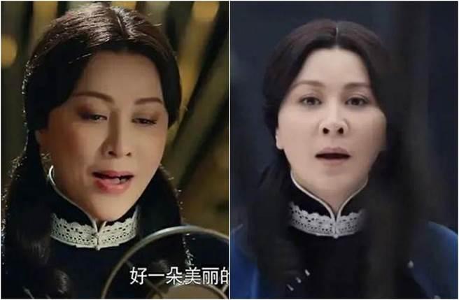 劉嘉玲的雙馬尾造型遭網友狂酸。(圖/翻攝自新浪娛樂)