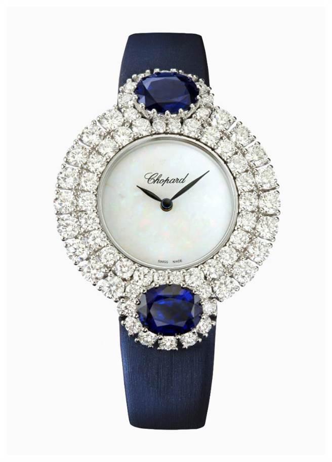 蕭邦L'Heure du Diamant鑽表,表圈共鑲嵌13.22克拉鑽石 ,512萬2000元。(CHOPARD提供)