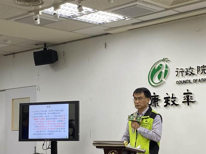農委會主委陳吉仲表示,面對本次乾旱,農委會首度推出「四選三」農水調適政策,即2年4期中只種植3期水稻,另1期轉作紅豆、玉米、小麥等雜糧旱作。(李柏澔攝)