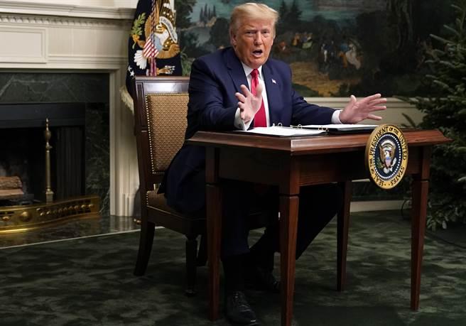 川普總統曾與幕僚討論,打算在他卸任前先發制人,給自己的成年子女、女婿庫納許及曾任紐約市長的私人律師朱利安尼特赦。(美聯社)