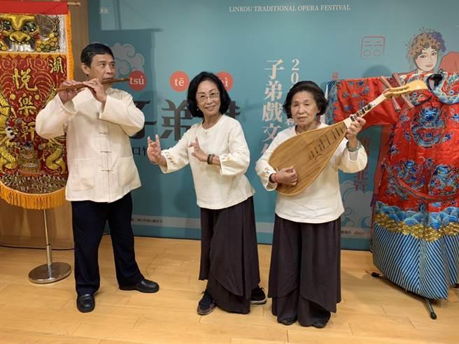 新北市林口子弟戲5日將在竹林山觀音寺演出。(許哲瑗攝)