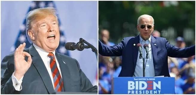 美國總統川普(左圖)、民主黨拜登(右圖)。(新華社資料照、shutterstock達志影像)