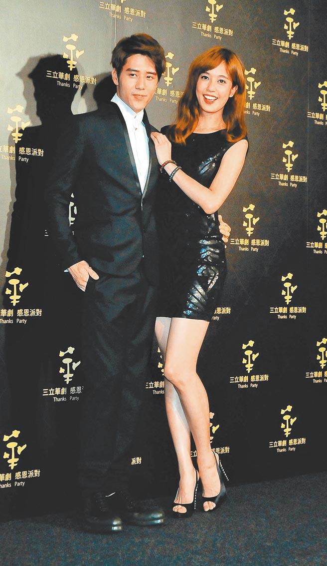 胡宇威(左)和陳庭妮緋聞傳多年。(資料照片)