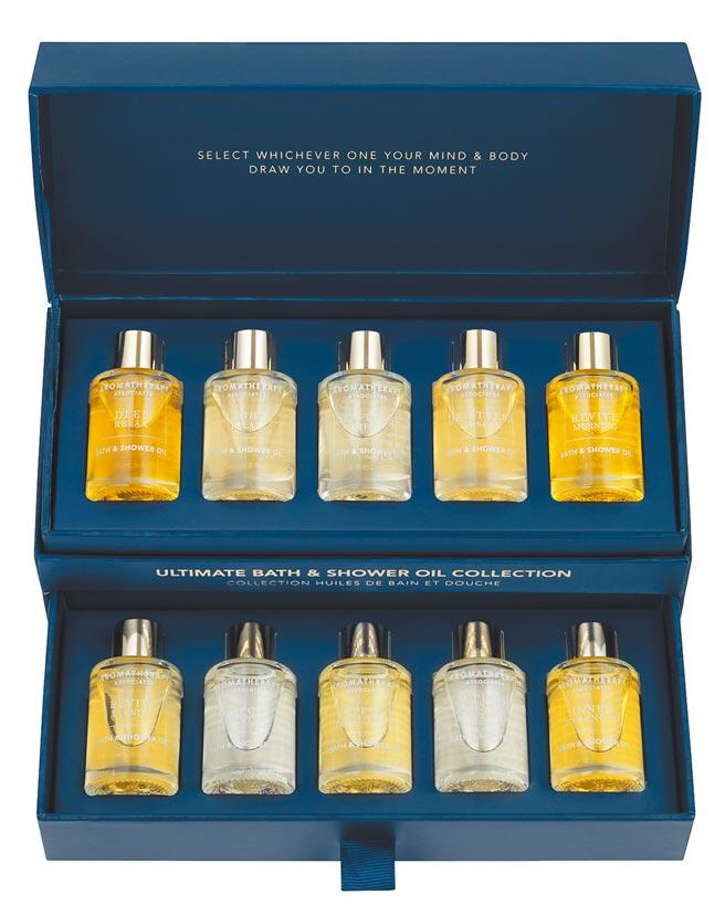 東方美集團旗下Espace Beaute獨家代理英國頂級正統芳療AROMATHERAPY ASSOCIATES,限量推出「珍愛時光」系列年度禮盒。(AROMATHERAPY ASSOCIATES提供)