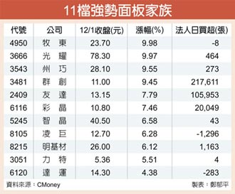 12月報價擬漲 面板低檔上衝