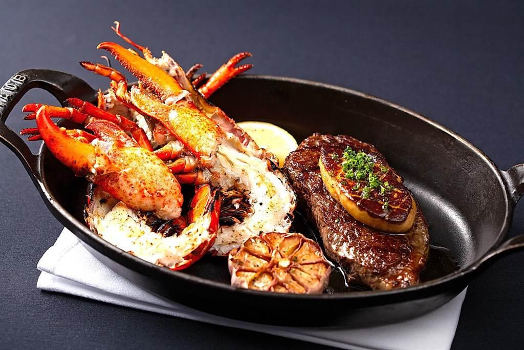牛排集客力強,台北國賓飯店A CUT牛排館推全新午間套餐,牛排、龍蝦、鴨肝一次滿足。(圖/台北國賓飯店)