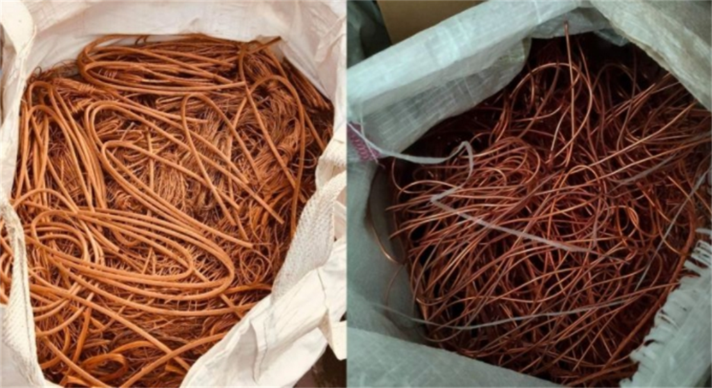 有網友收集了22袋的剝皮紅銅線放在自家門口,不料遭資源回收伯全部搬走。(圖/截自爆怨公社)
