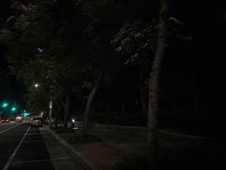 憂燈光昏暗成治安死角 北大高中周邊道路增設LED燈