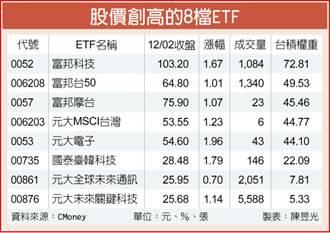 台積領頭衝 8檔ETF同步登峰