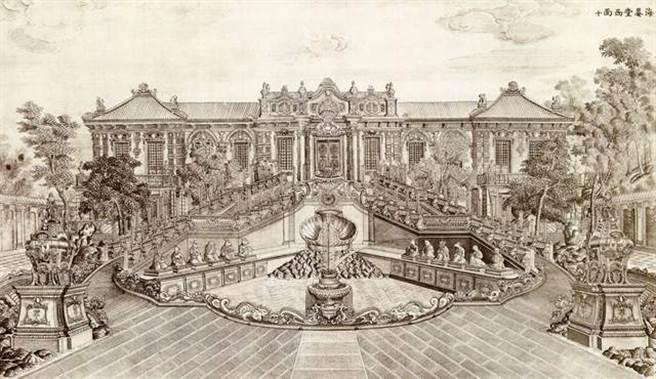 乾隆皇帝下令外國傳教士設計建造的12獸首人身報時噴水池,內置精巧的水路管道設計,時辰一到獸首會噴水報時。(圖/網路)
