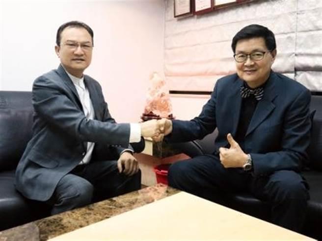 理財周刊發行人洪寶山(左)、陸潔民(右)。(圖/理財周刊提供)