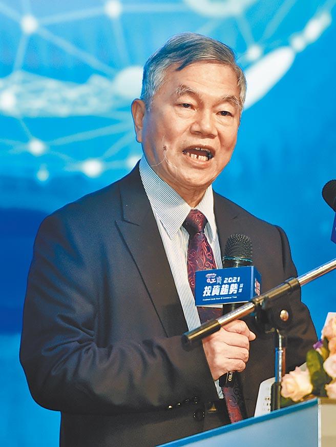 工商時報2日舉辦2021投資趨勢論壇,行政院副院長沈榮津出席。圖/顏謙隆